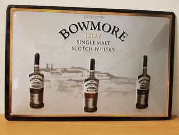 Bowmore single malt whisky reclamebord  RELIEF