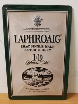 Laphroaig scotch whisky metalen reclamebord RELIEF