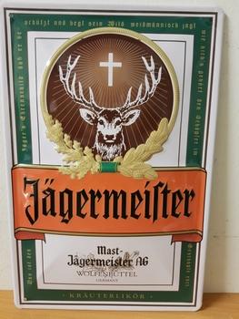 Jagermeister  logo metalen reclamebord RELIEF