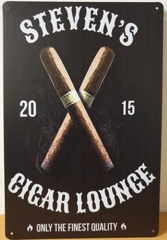 Stevens Cigar lounge sigaren reclamebord metaal