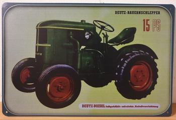 Deutz Tractor 15 reclamebord metaal