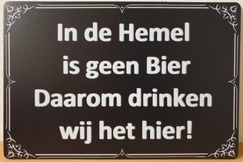In de hemel geen bier reclamebord metaal