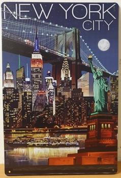 New York City vrijheidsbeeld metalen wandbord