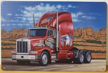 Rebel rode vrachtwagen reclamebord metalen wandbord