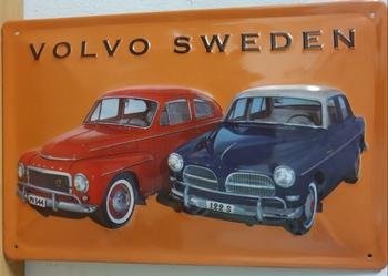volvo amazone sweden metalen reclamebord relief 30x20c