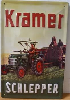 Kramer tractor Schlepper metalen wandbord  relief 30x2