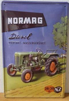 Normag Diesel 4 takt 2830 metalen bord RELIEF 30x20