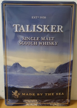 Talisker Whisky metalen reclamebord RELIEF 30x20