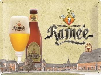 Rameé bier metalen relief reclamebord