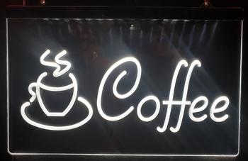 Coffee kopje witte led lamp verlichting