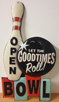 Let the goodtimes roll bowl open metalen uitgesneden