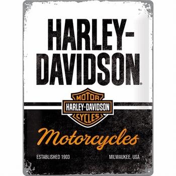 Harley Davidson motorcycles metalen reclamebord reli
