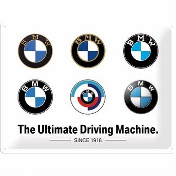 BMW Logo evolution metalen reclamebord relief