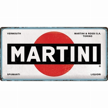 Martini logo white xl metalen reclamebord relief
