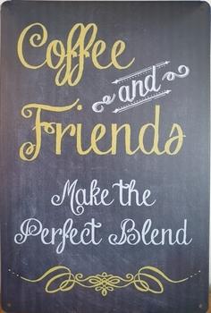 Coffee and Friends perfect blend koffie metalen wandbo