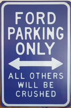 Ford Parking Only metalen wandbord reclame