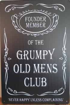 Grumpy old mens club reclamebord metaal