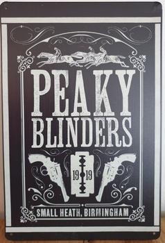 Peaky Blinders zwart reclamebord metaal