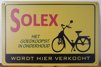 Solex wordt hier verkocht reclamebord metaal