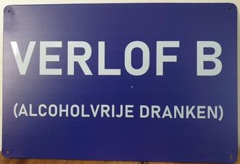 Verlof B reclamebord metaal