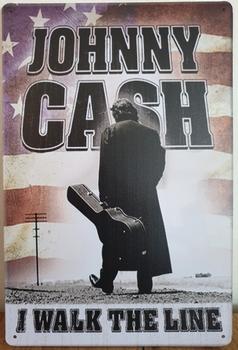 Johnny Cash Vlag reclamebord metaal reclamebord