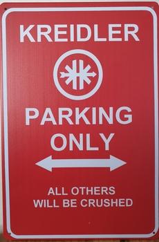 Kreidler Parking Only reclamebord metaal
