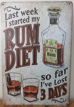 Rum Dieet Reclamebord metaal