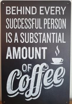 Succesfull Person Coffee Reclamebord metaal