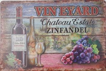 Vin Wijn Zinfasdel wijn Reclamebord metaal