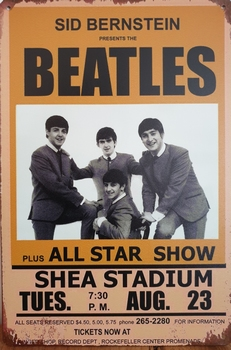 The Beatles All star Reclamebord metaal