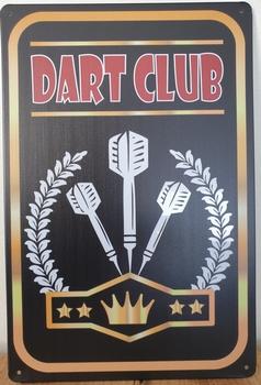 Dart club reclamebord van metaal