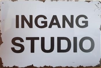 Ingang Studio reclamebord metaal
