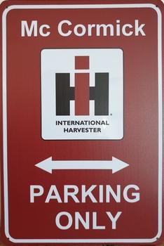 Mc Cormick Parking Only reclamebord metaal reclamebord