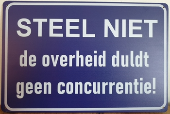 Steel niet overheid reclamebord metaal
