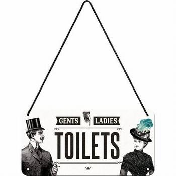Toilet hanging sign metaen bord