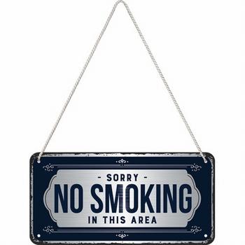 No smoking hanging sign metaal