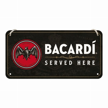 Bacardi served here metalen bord hanging sign