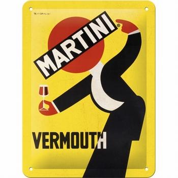 Martini vermouth waiter metalen wandbord