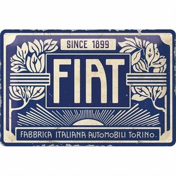 Fiat since 1899 logo bleu metalen wandbord