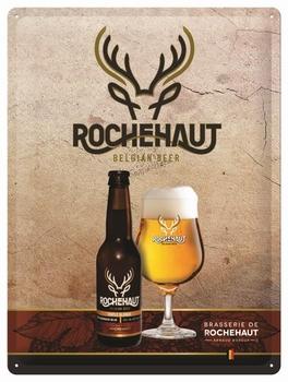 Rochehaut belgian bier metalen relief reclamebord