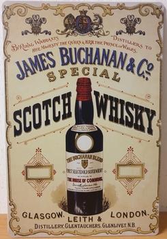James Buchanan Whisky Reclamebord metaal