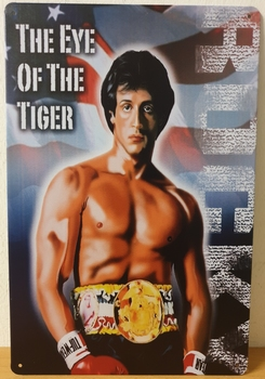 Rocky Eye of the tiger Reclamebord metaal