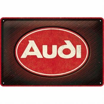 Audi logo red shine metalen reclamebord