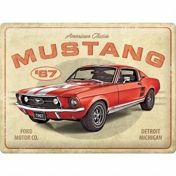 Ford mustang gt 1967 metalen reclamebord