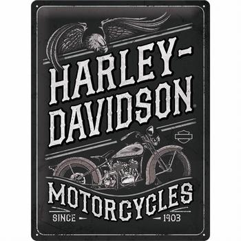 Harley Davidson motorcycle eagle metalen reclame bord