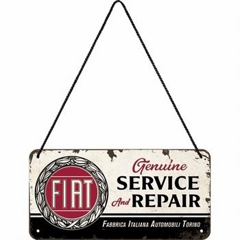 Fiat service and repair hanging sign metaal