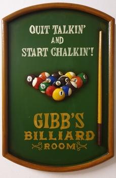 Gibb's biljart room houten pubbord