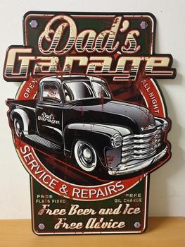 Dads gargage service en repair free beer
