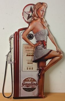 Gasoline ster pin up rode pomp
