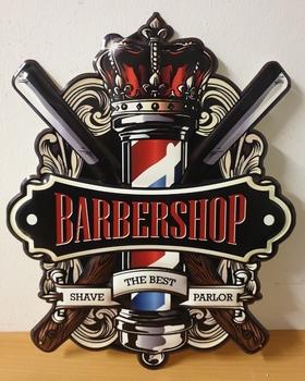 Barbershop shave the best parlor uitgesneden